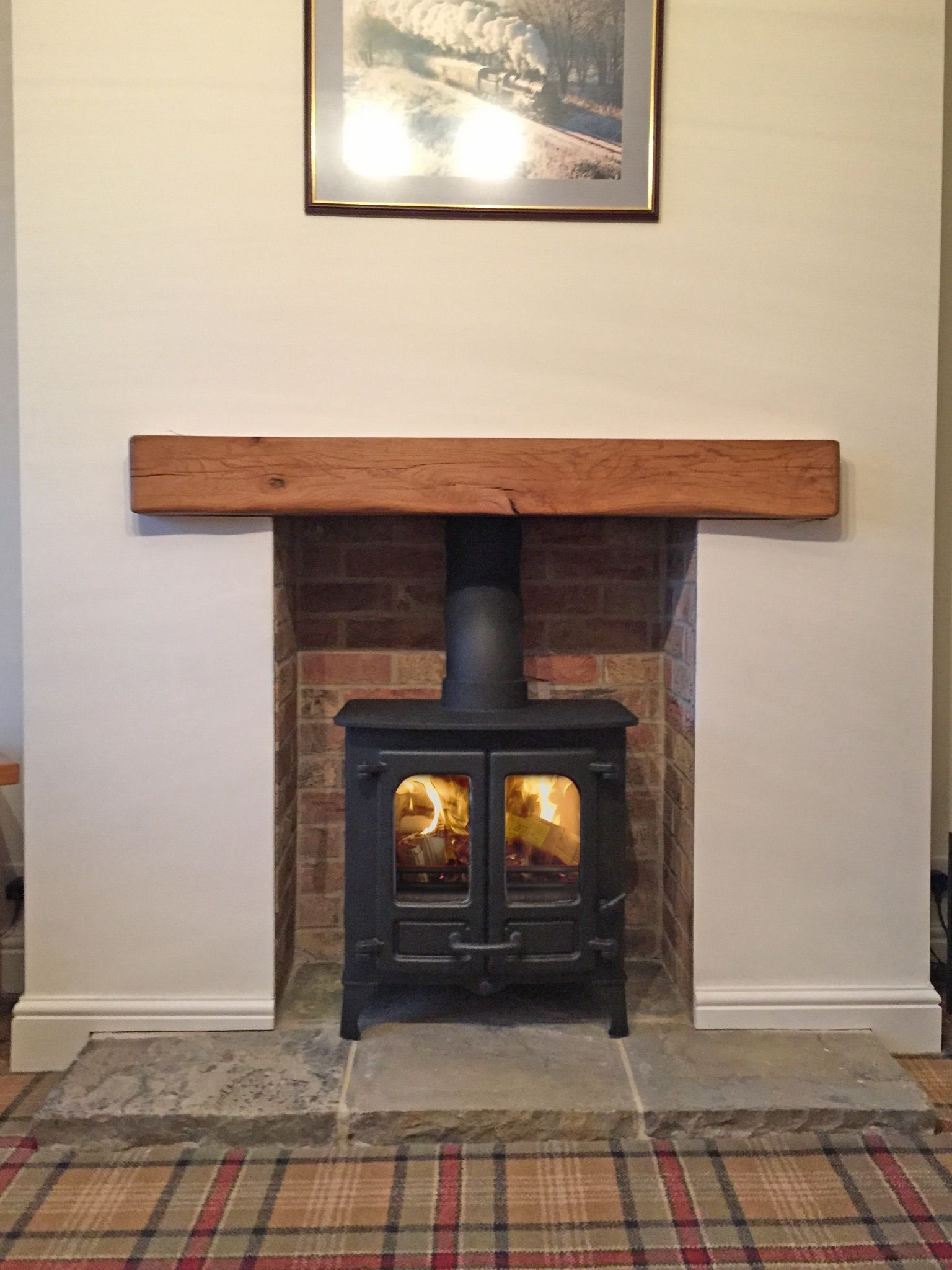 Reclaimed Yorkshire Stone Hearth 5 piece HearthsSurrounds