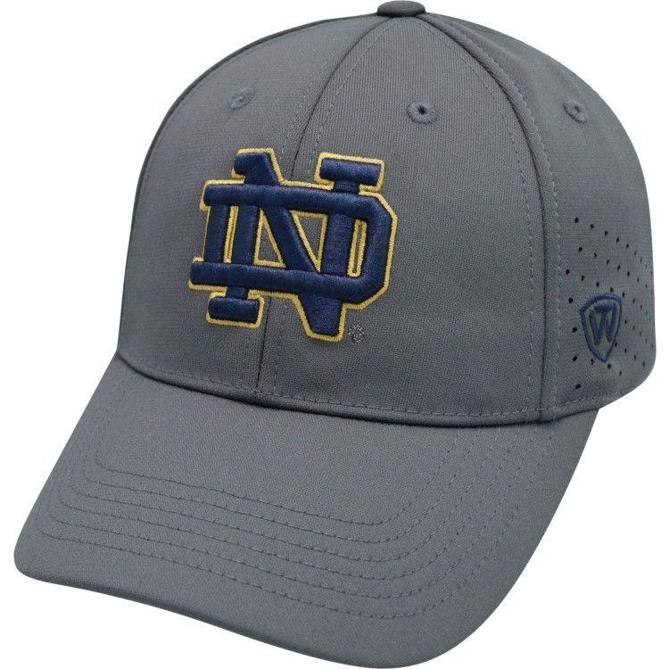 Notre Dame Fighting Irish TOW Charcoal Jock II Memory FLEXFIT Hat Cap (M/L)