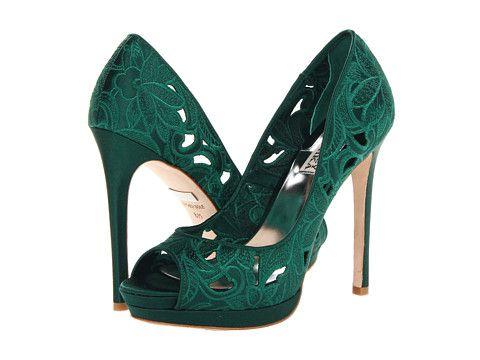 badgley mischka dacey in emerald green heels shoelove. Black Bedroom Furniture Sets. Home Design Ideas