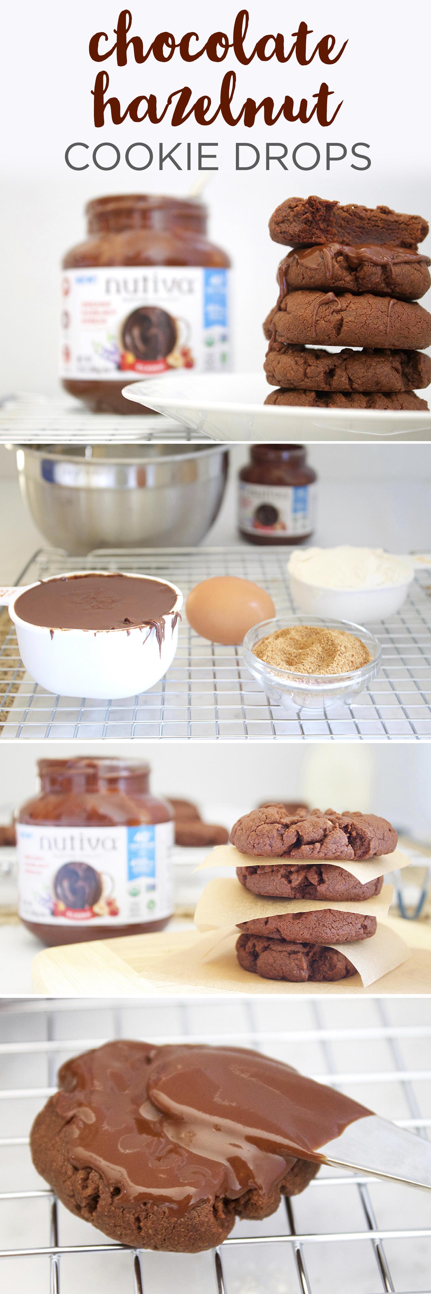 Chocolate Hazelnut Cookie Drops kitchen.nutiva.com