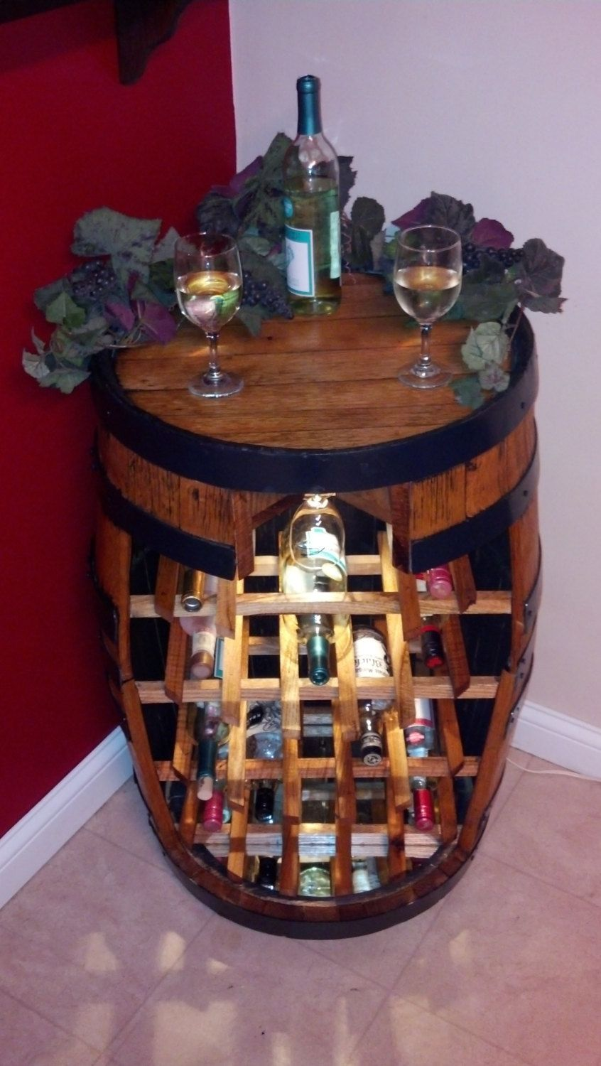 Super cute wine rack idea wine barrel wine rack via etsy