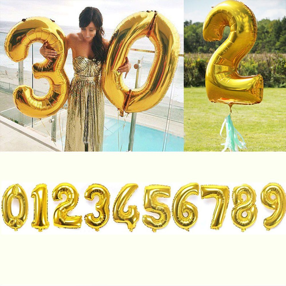"Details about 32"" Gold Helium Foil Balloons Large Letter"