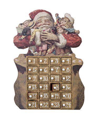 Santa with Sack Wooden Advent Calendar