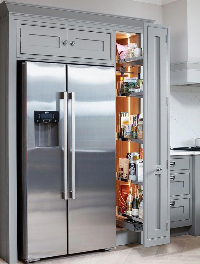 Life Kitchens Fitted pull out tall storage next  Life Kitchens Fitted pull out tall storage next