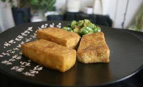 Rapeat ja maustetut tofupalat uunissa