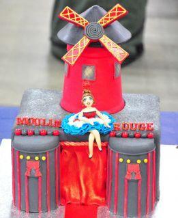Gâteau Moulin Rouge #SalonduCakeDesignLyon