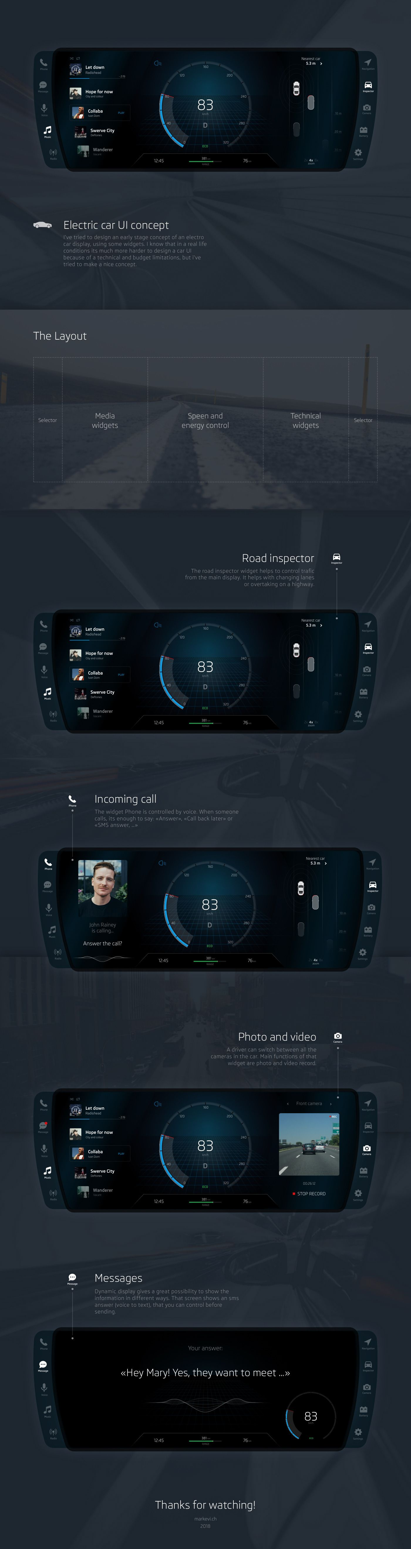 Electric Car UI concept