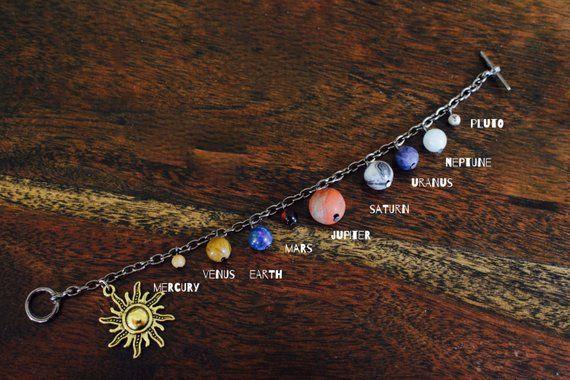Sonnensystem-Armband-Edelstein-Stein