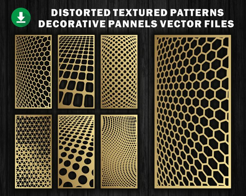Several Distorted Patterns Vector File