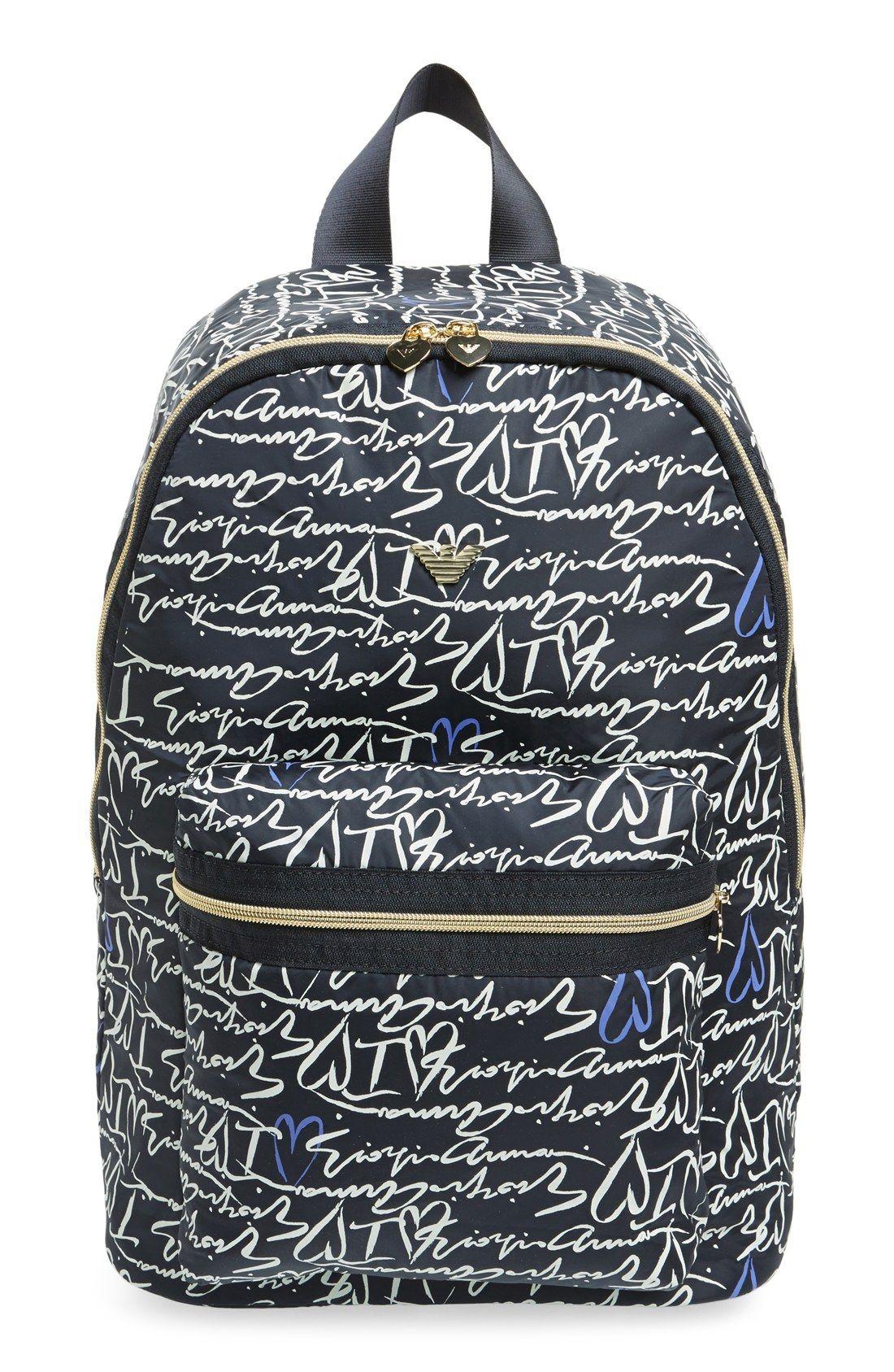 Armani Junior 'Giorgio' Logo Print Backpack | Totes obsessed ...