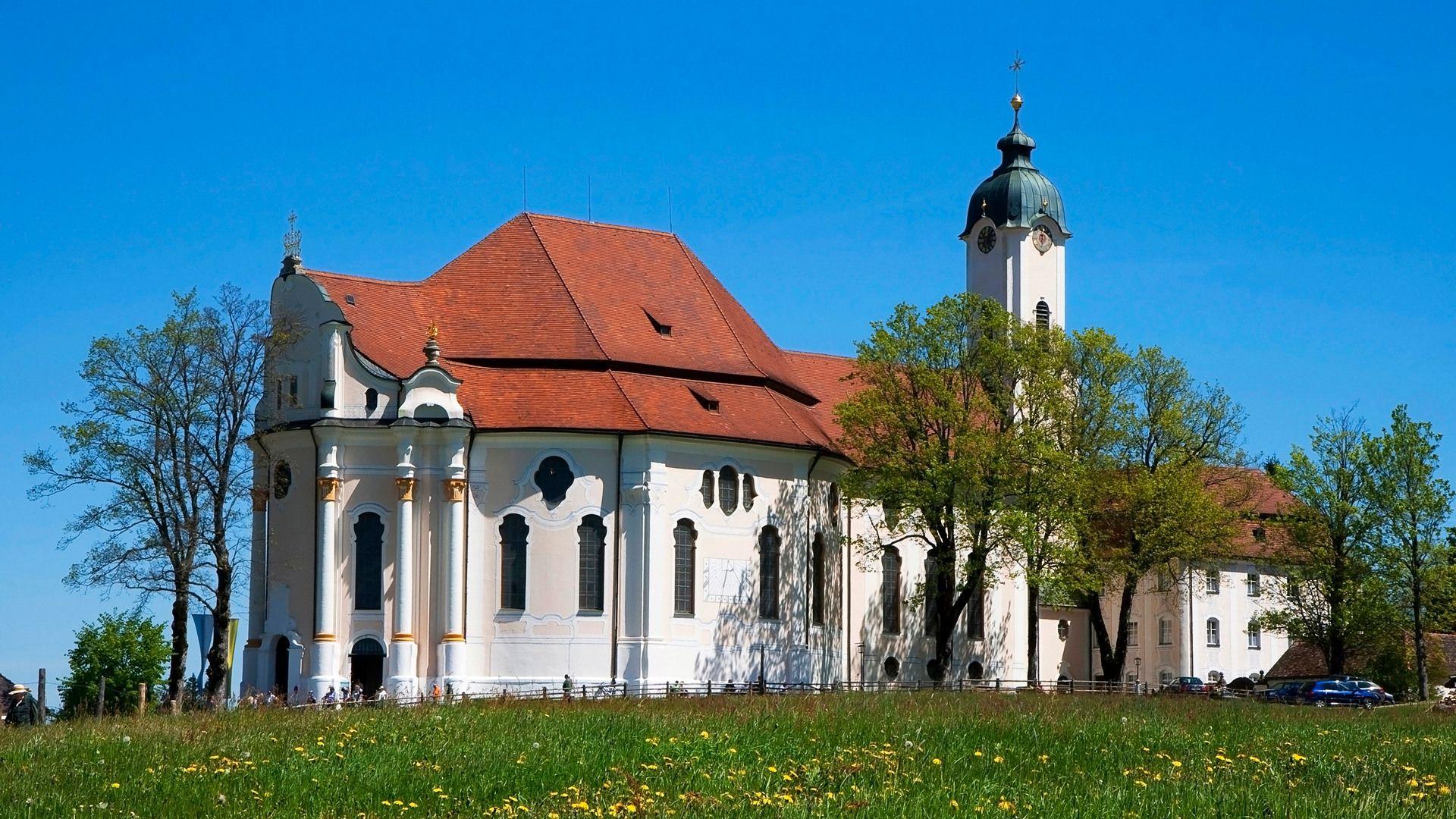 Germany Bavaria Weilheim Schongau District Steingaden Municipality Pilgrimage Church Of Wies Wieskirche Weilheim Schongau Kloster Wallfahrt