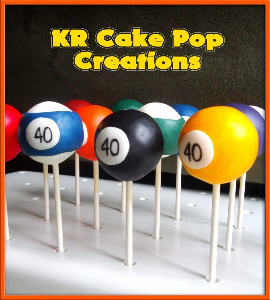 Billiard Cake Pops Love It Pool Cake Cake Pops Grandpa