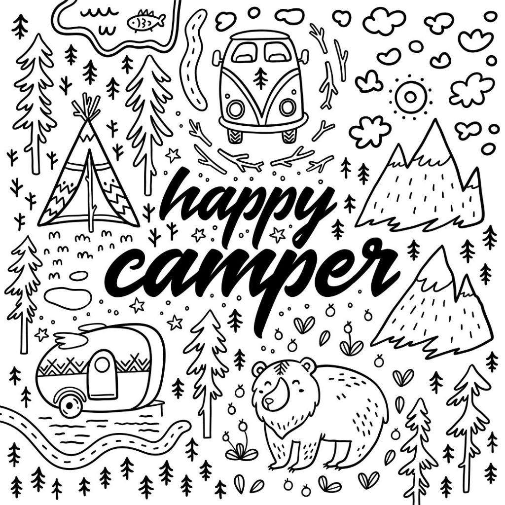 Coloring Rocks Camping Coloring Pages Alphabet Coloring Pages Coloring Pages
