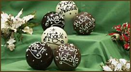 sfere di natale di cioccolato - Cerca con Google
