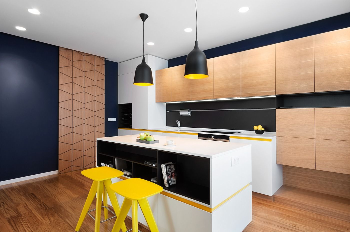 A Mid-Century Inspired Apartment With Modern Geometric Accents ...