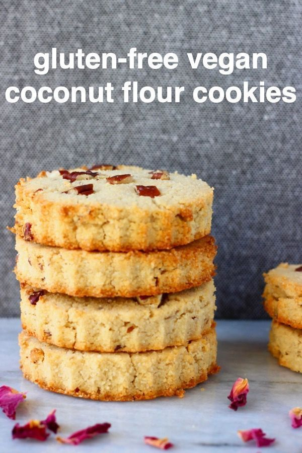 Coconut Flour Cookies are crisp and crunchy, richly