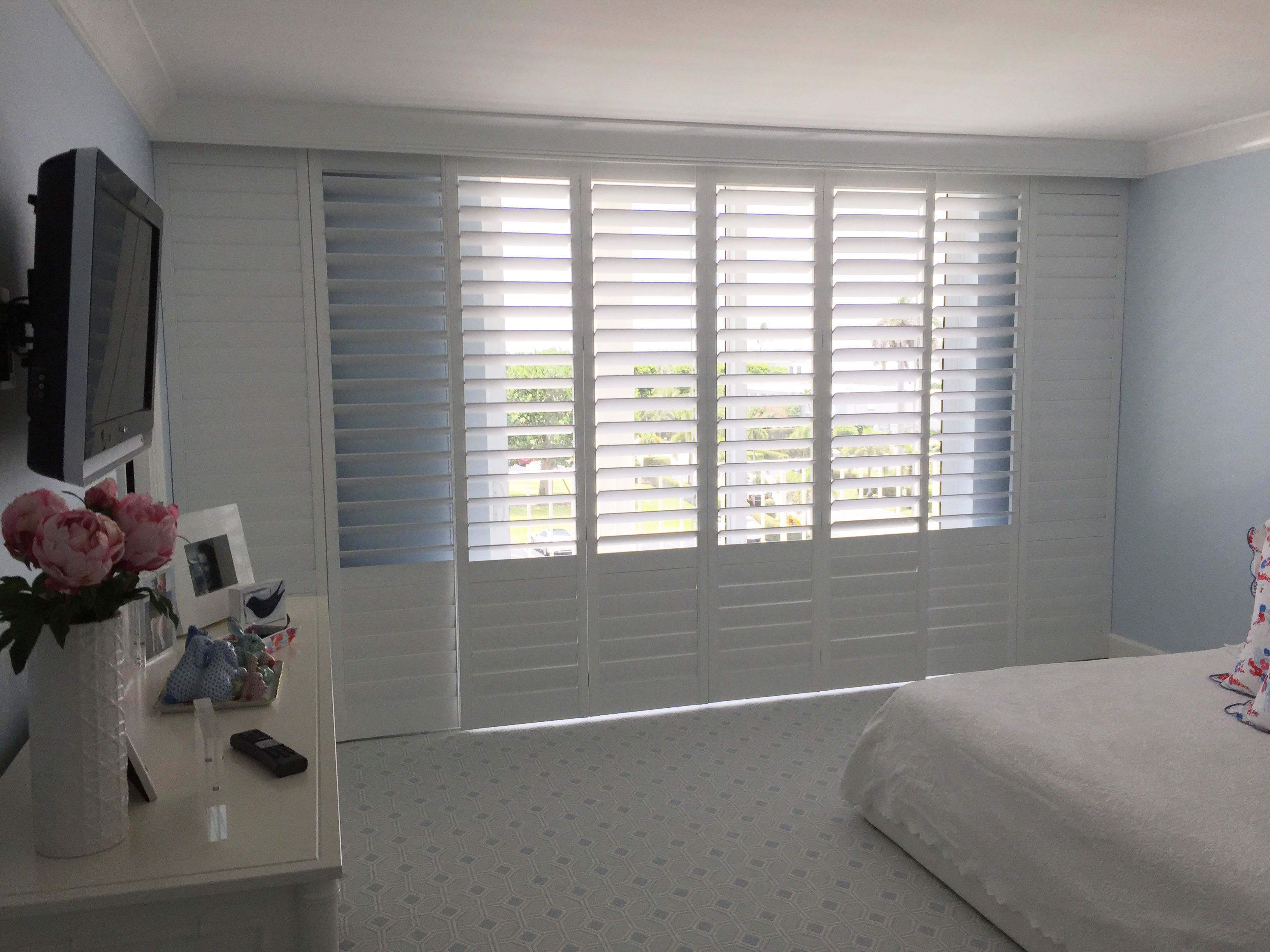 Sliding glass doors beautifully covered with our