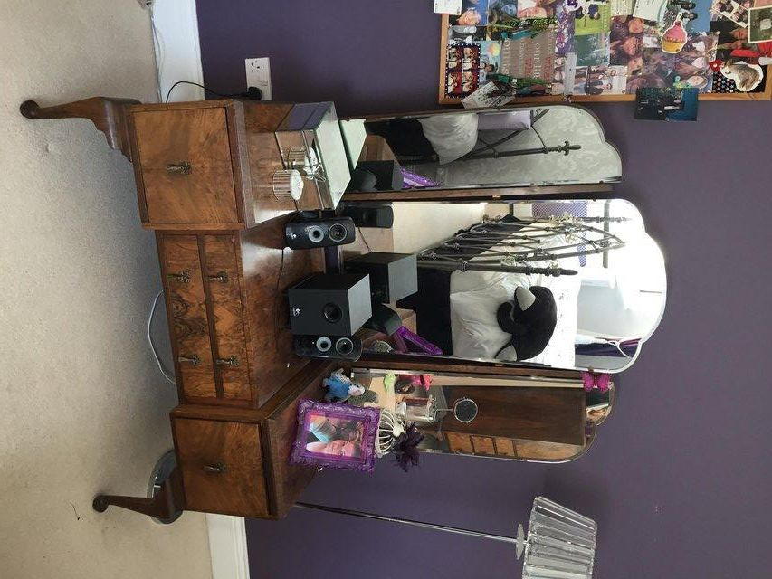 antique 1920s dressing table and tall boy chest of drawers for sale in evesham