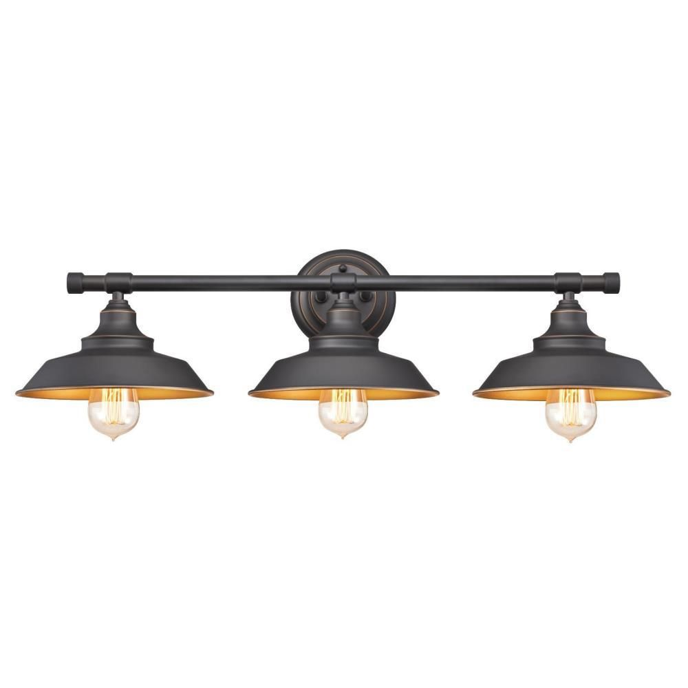 Westinghouse Iron Hill 3-Light Oil Rubbed Bronze Wall Mount Bath ...