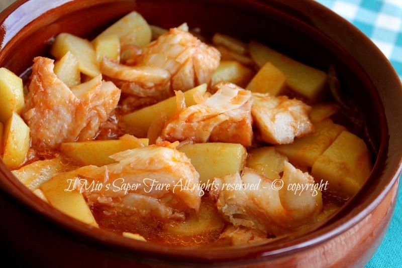Photo of Cod and stewed potatoes – recipe with cod