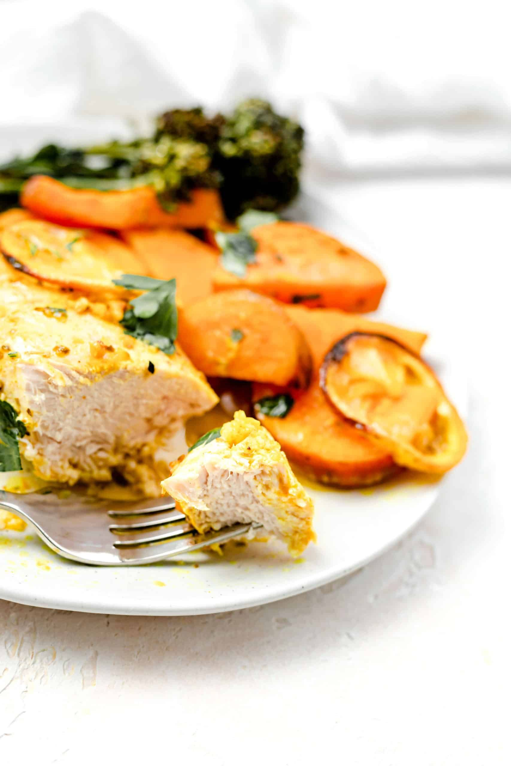Healthy Lemon Chicken And Sweet Potatoes Baked Ambrosia Recipe In 2020 Healthy Lemon Chicken Recipe Healthy Lemon Chicken Sweet Potato Recipes Healthy