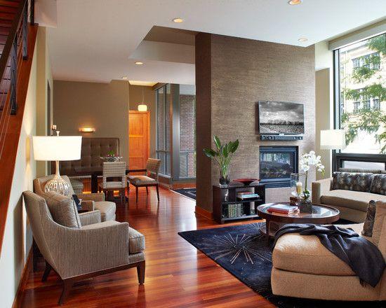 Contemporary Living Room Contemporary Fireplace Design ...