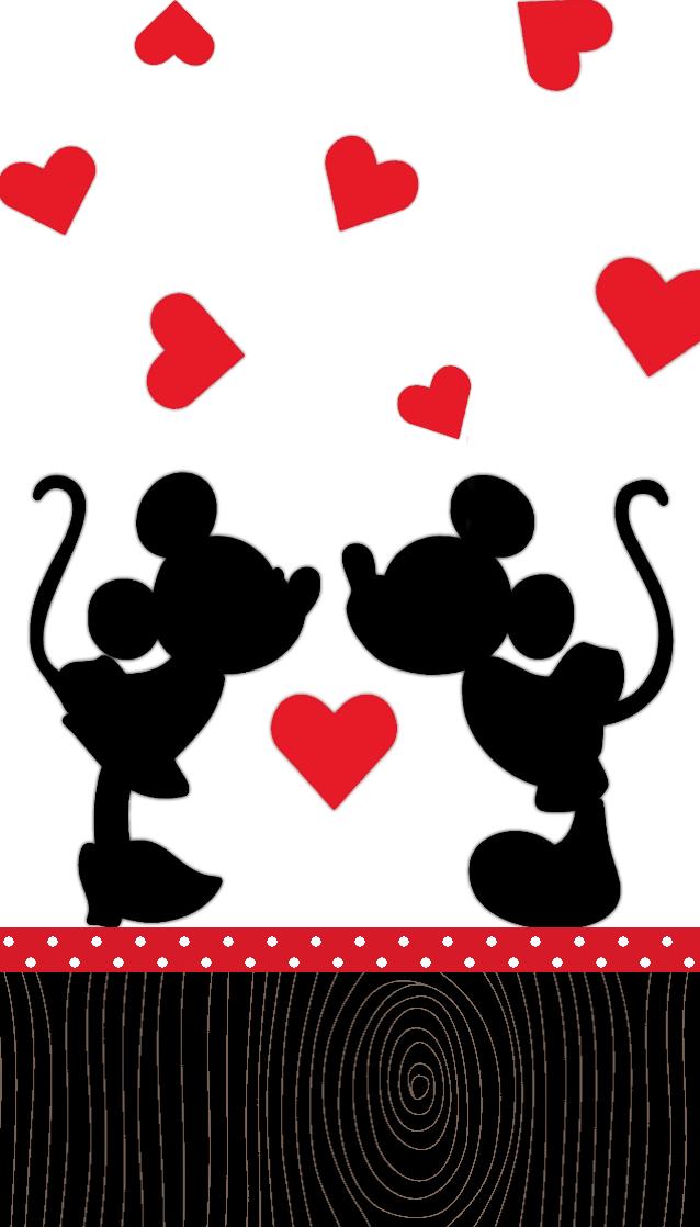 Minnie Mickey Love Wallpaper Wallpaper Do Mickey Mouse Silhueta