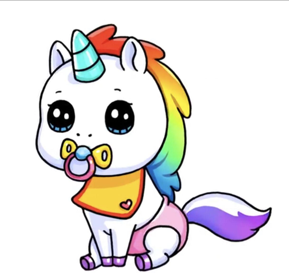 Baby Unicorn Cute Animal Drawings Cute Kawaii Drawings Kawaii