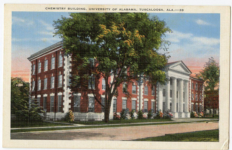 1940 Chemistry Building University Of Alabama Tuscaloosa United States Vintage Linen Postcard Collectible M Vintage Linens Postcard University Of Alabama