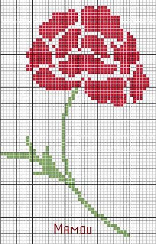 Вышивка крестом схемы бесплатно розы 258