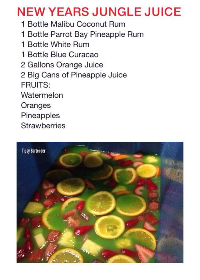 New Years Jungle Juice Tipsybartender