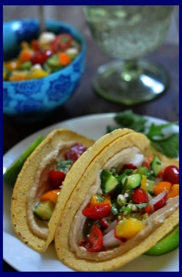 Mexican Chopped Salad Tacos   No Heat No Fridge Lunches   No Heat No Fridge Lunche... Hummus and Me