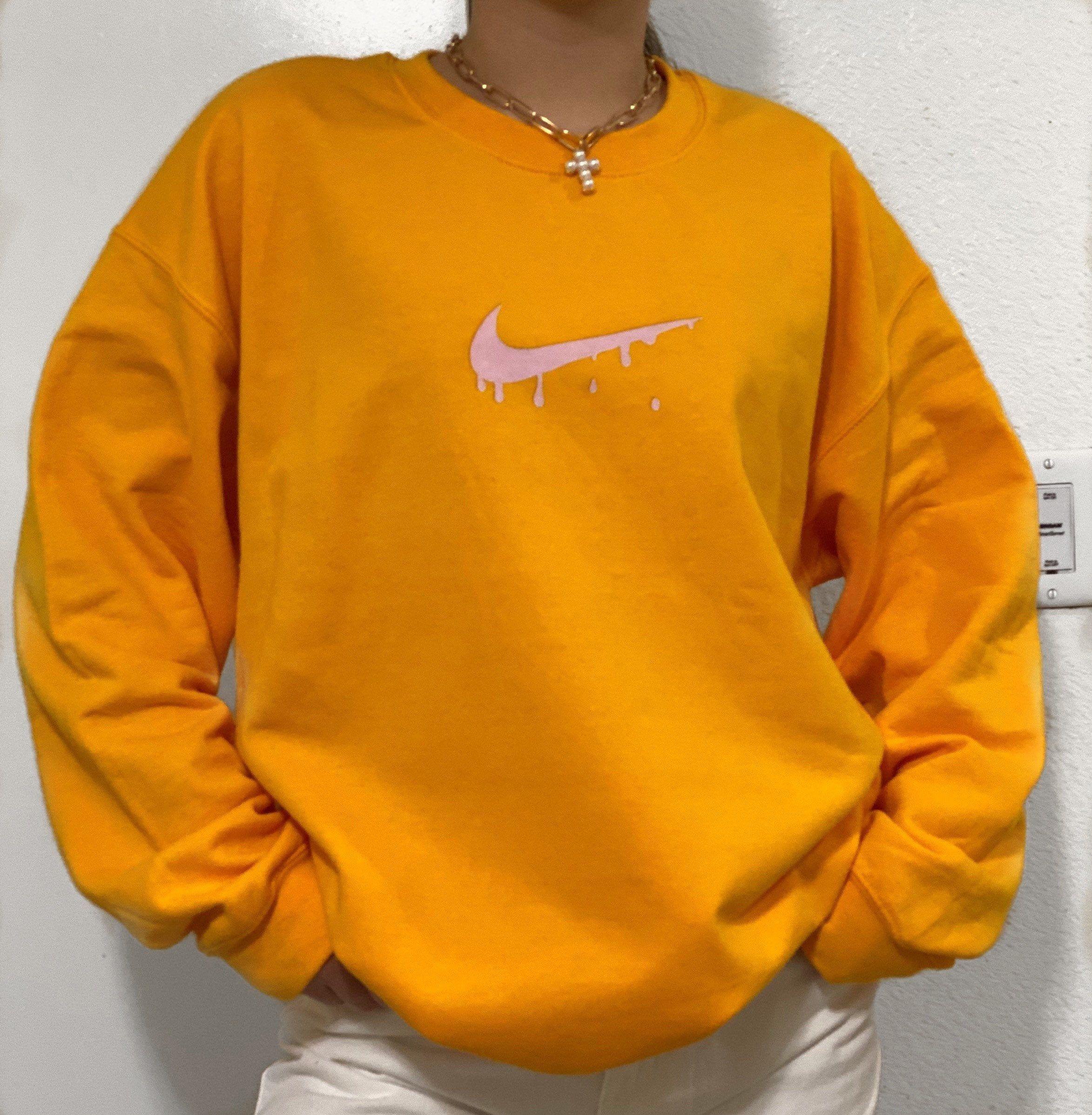 Pink Nike Drip Crewneck Oversized Crewneck Etsy Oversized Crewneck Soft Sweatshirts Warm Sweaters Outfits [ 2394 x 2346 Pixel ]