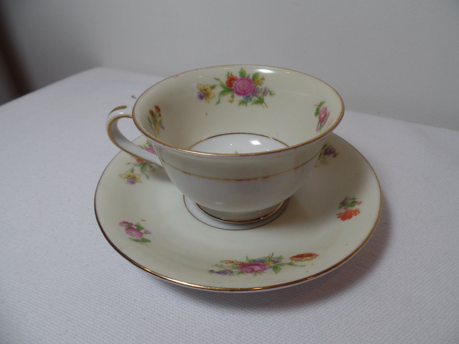 Vintage Rose China Made In Occupied Japan Teacup And Saucer Ebay