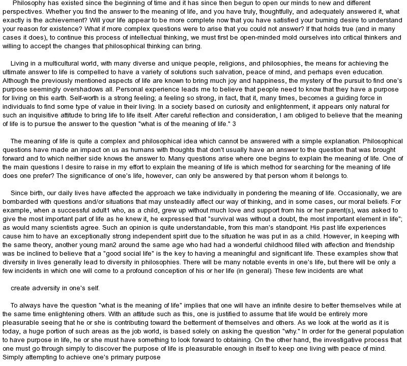 A Meaningful Life Essay - Specialist\u0027s opinion Baseball - examples of successful resumes