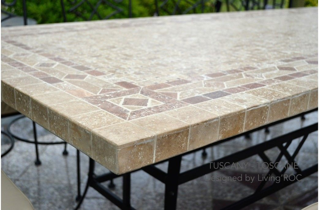 Stone Top Patio Table