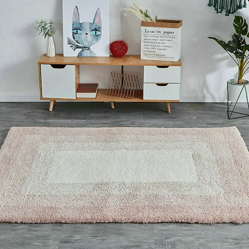 Pink Grey Gradient Plush Rugs Warmly Home In 2020 Plush Rug