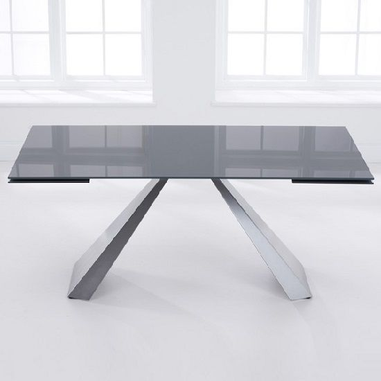 Grey Glass Extending Dining Table