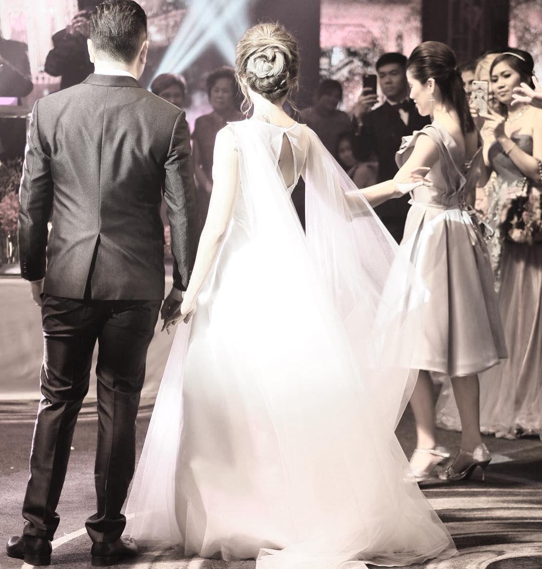 Custom made wedding dress  Congratulations to KhunMayKhunPok Khun May maynie looks stunning