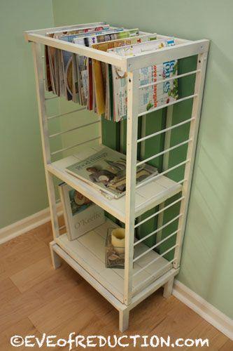 Small Crib Gets Upcycled into a Shelf Unit | Reutilizado, Revisteros ...