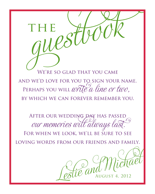 Baby Shower Guest Book Sign : shower, guest, Wedding, Stationery, Leslie, Guest, Wording,, Sign,