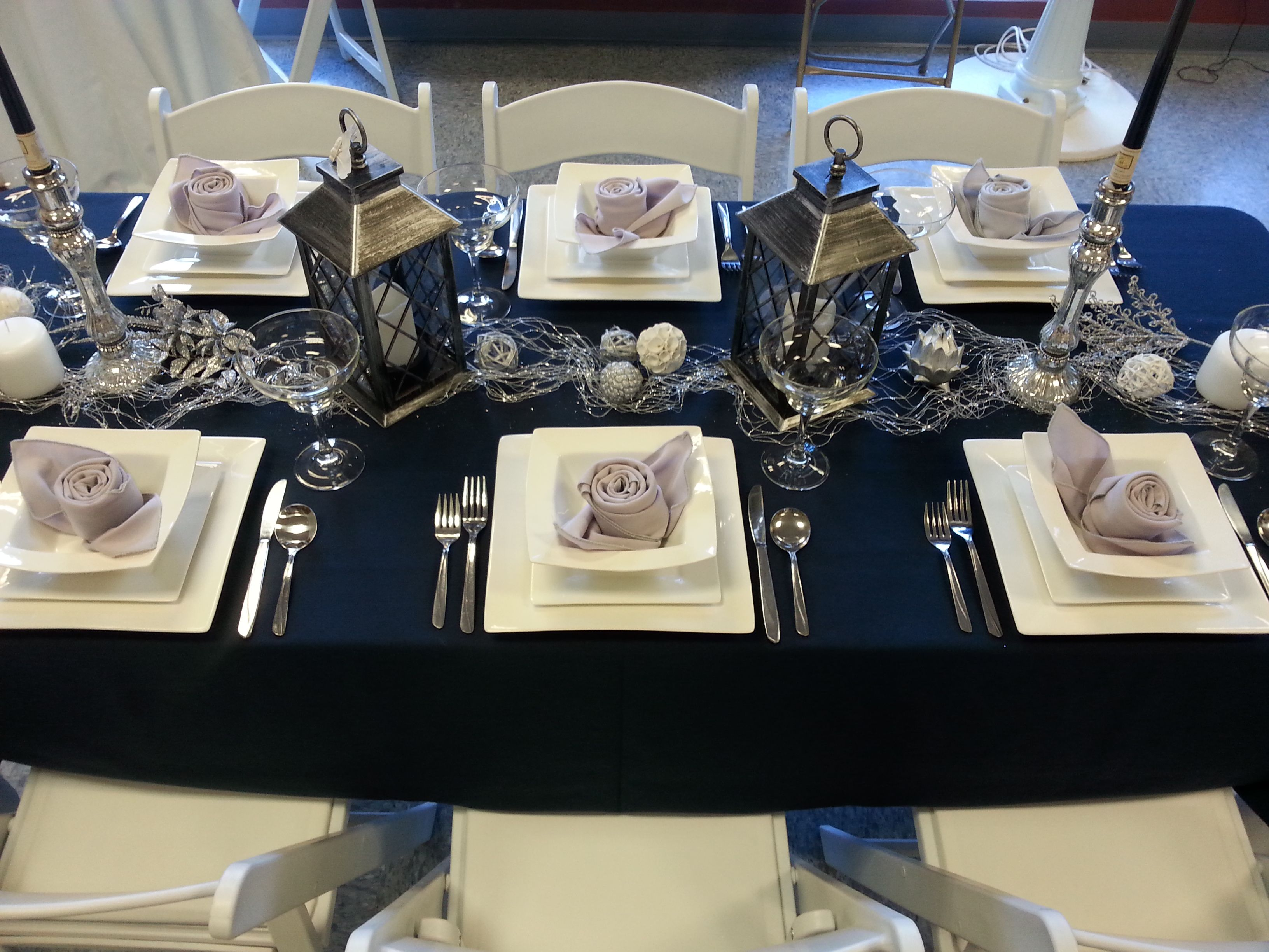 Navy With Silver And White Decorations Perfect For A New