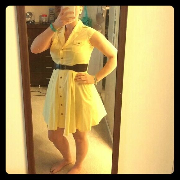 Button-up dress with pockets! Yellow sundress with buttons and pockets! Lightweight and very comfortable. Only worn a few times, in great condition. I.N. San Francisco Dresses