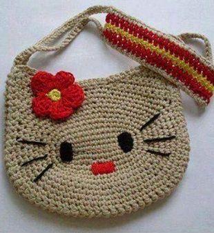 Вязанные детские сумочки крючком