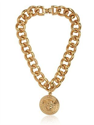 e07f24bf1b0 Versace Medusa Gold Plated Metal Necklace