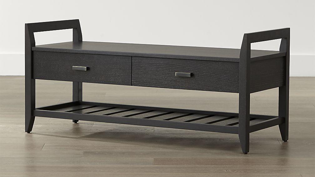 Boardwalk Grey Bench Crate And Barrel Grey Storage Bench Grey