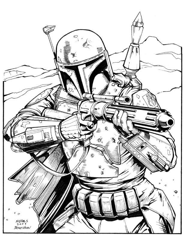 Boba Fett Star Wars pencils Wayne Nichols, inks