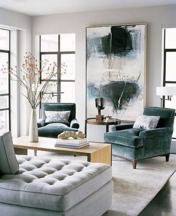 Love Color Scheme Dark Green Grey Off White0 Living Room