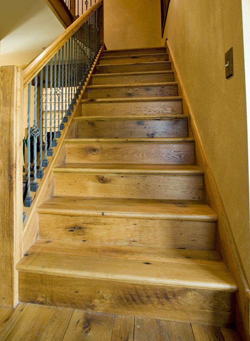 Best Antique Barn Board Oak Stair Treads And Risers Wood 400 x 300