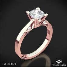 18k Rose Gold Tacori 2584RD Simply Tacori Flat-Edge Solitaire Engagement Ring | Whiteflash